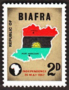 biafra stamps 2d 1968
