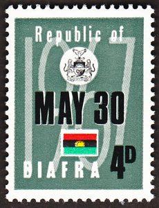 biafra stamps 4d 1968
