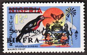 biafra stamps 1.5d splendid sunbird