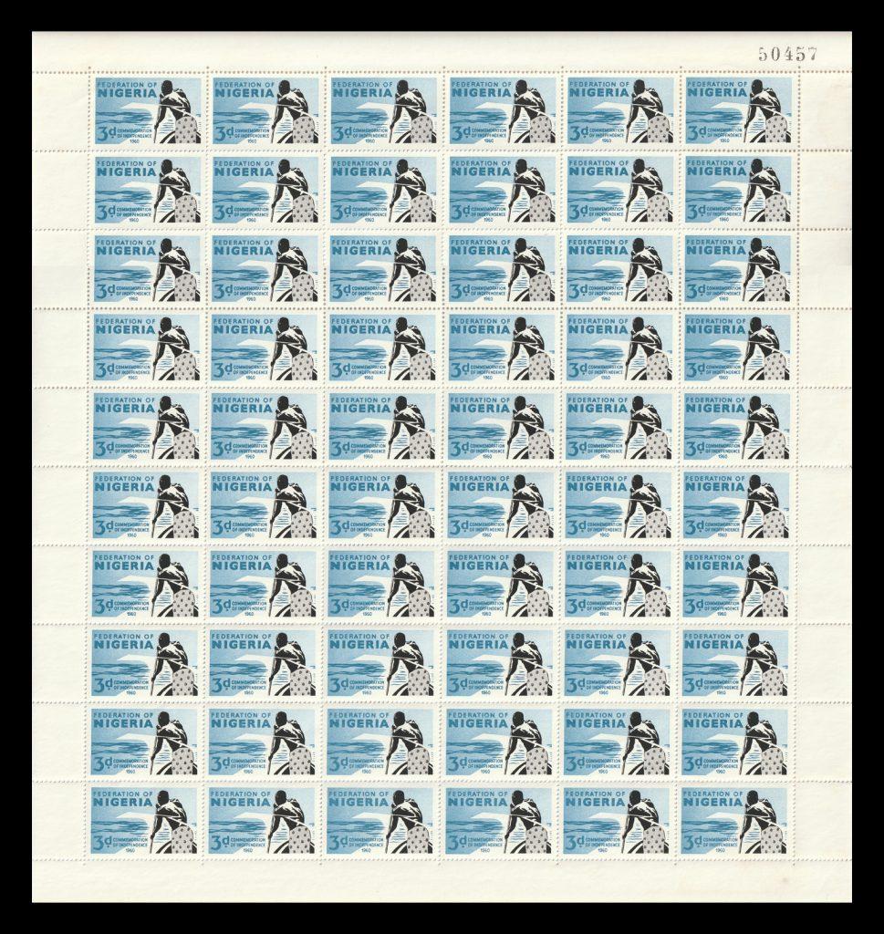 SG86 Nigeria stamp sheet