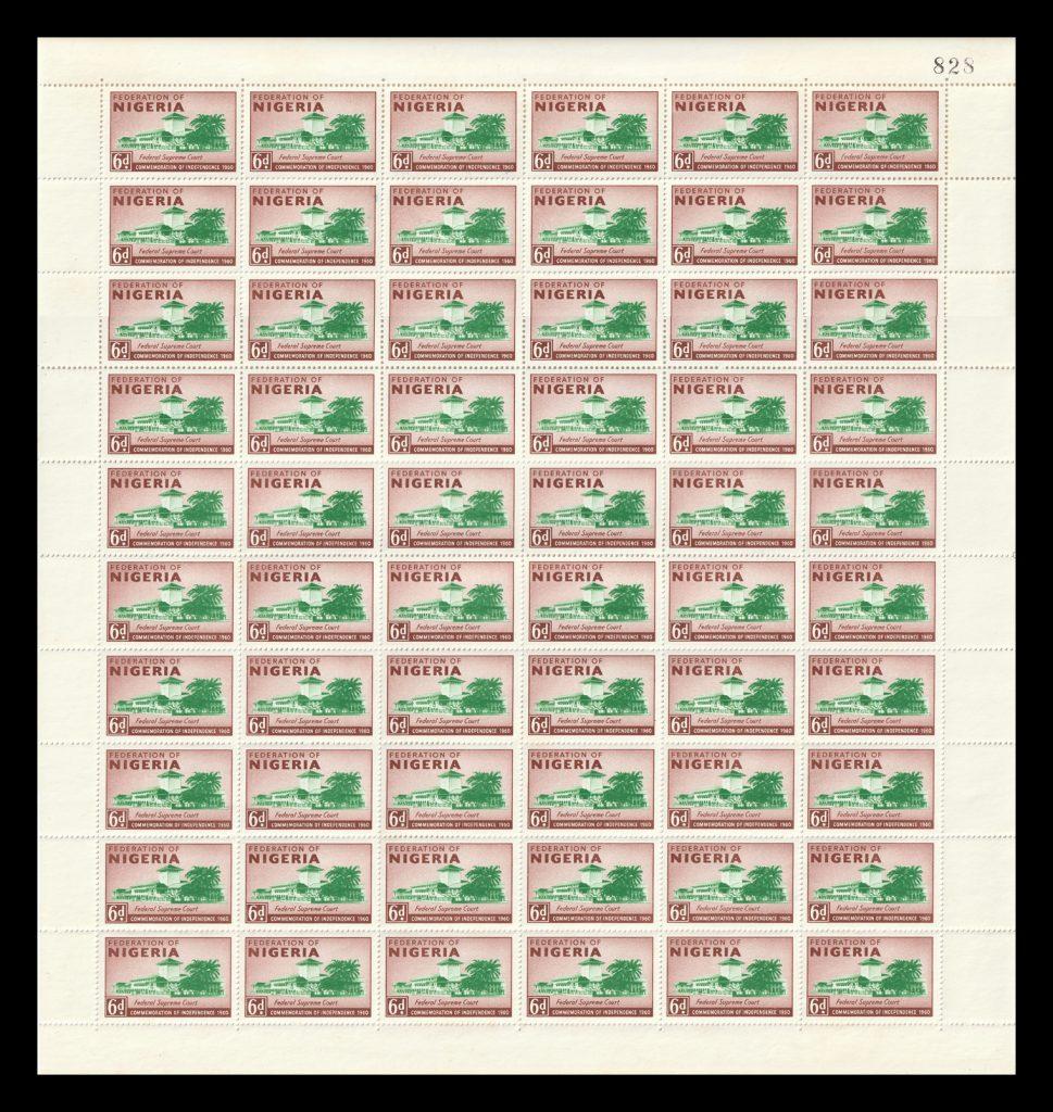 SG87 Nigeria stamp sheet